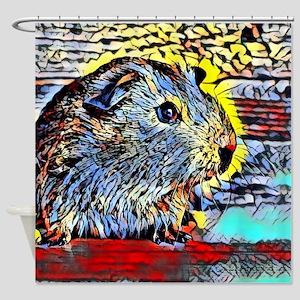 Color Kick -guinea pig Shower Curtain