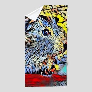 Color Kick -guinea pig Beach Towel