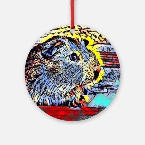 Color Kick -guinea pig Round Ornament