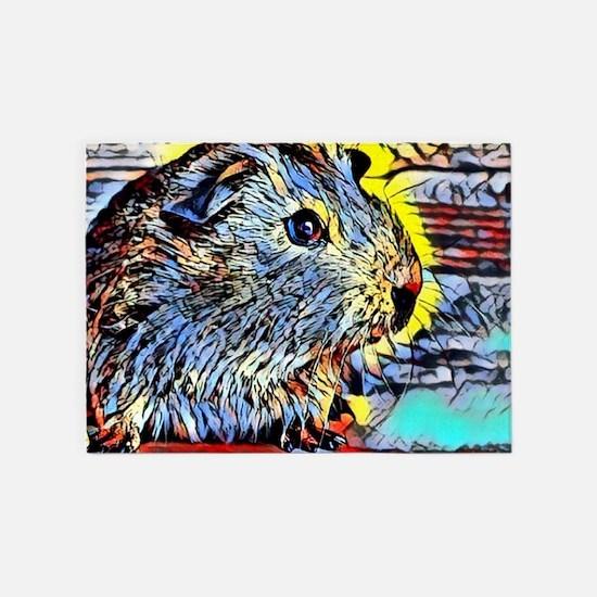 Color Kick -guinea pig 5'x7'Area Rug