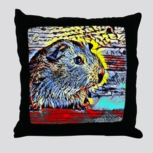 Color Kick -guinea pig Throw Pillow