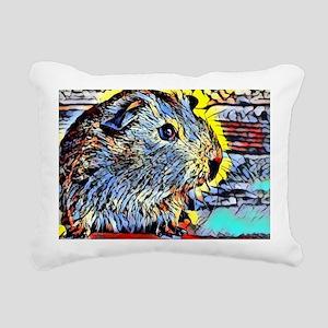 Color Kick -guinea pig Rectangular Canvas Pillow