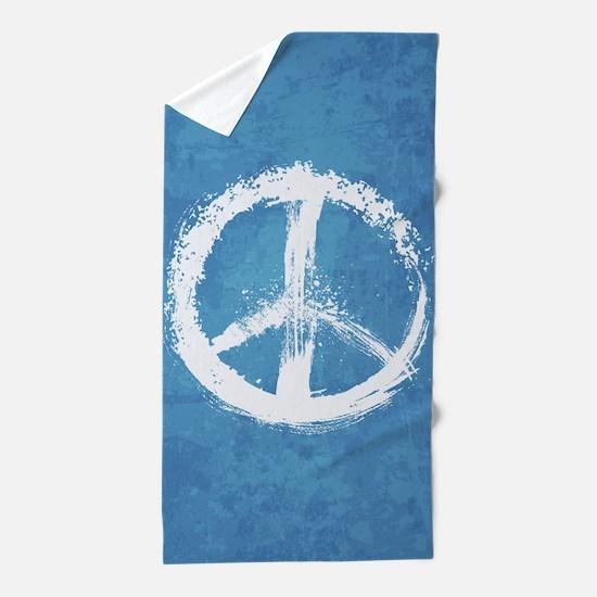 Grunge Peace Sign Beach Towel