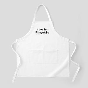 I Live for Ringette BBQ Apron