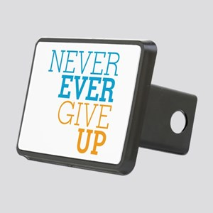 Never Ever Give Up Rectangular Hitch Cover