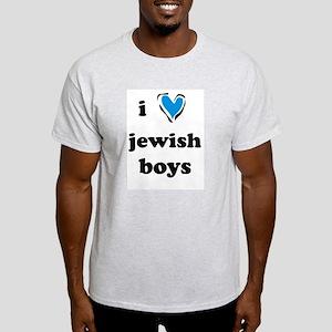I <3 Jewish Boys Ash Grey T-Shirt