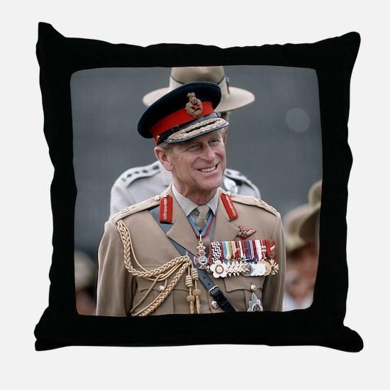 HRH Prince Philip Hong Kong Throw Pillow