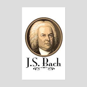 J.S. Bach Rectangle Sticker