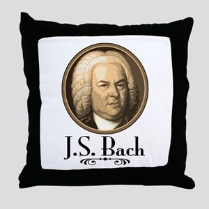 J.S. Bach  Throw Pillow