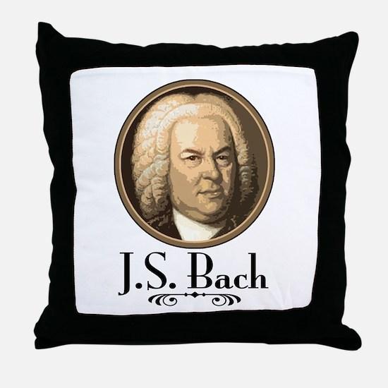 J.S. Bach  Throw Pillow