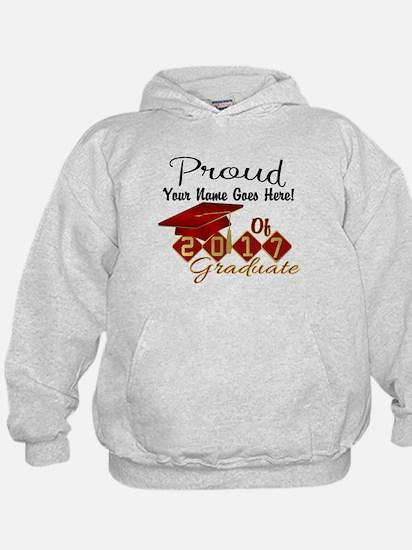 Proud 2017 Graduate Red Sweatshirt