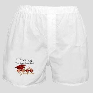 Proud 2017 Graduate Red Boxer Shorts