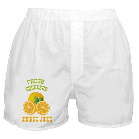 Fresh Squeezed Orange Juice Boxer Shorts