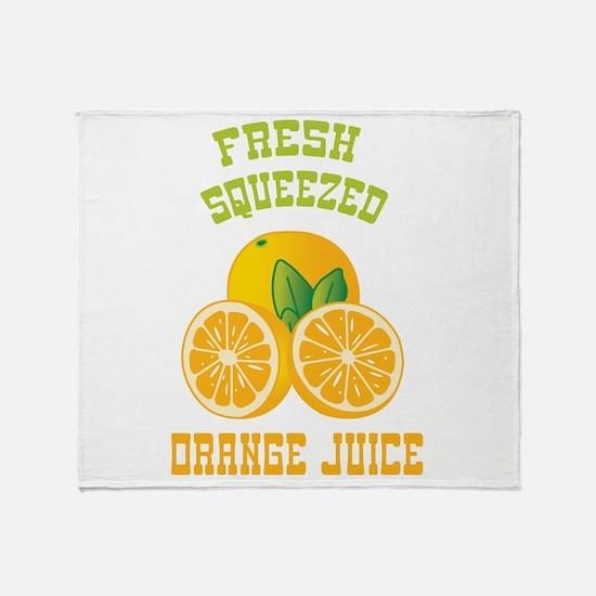 Fresh Squeezed Orange Juice Throw Blanket