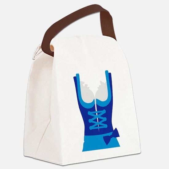 Dirndl Oktoberfest Dress Canvas Lunch Bag