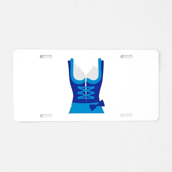 Dirndl Oktoberfest Dress Aluminum License Plate