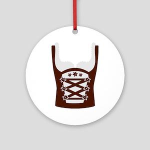 Dirndl Oktoberfest Ornament (Round)