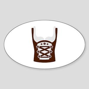 Dirndl Oktoberfest Sticker (Oval)