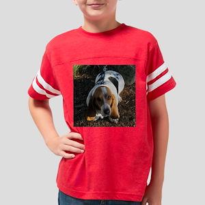 Fat Basset Hound Youth Football Shirt