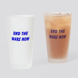 End the Wars Now Drinking Glass