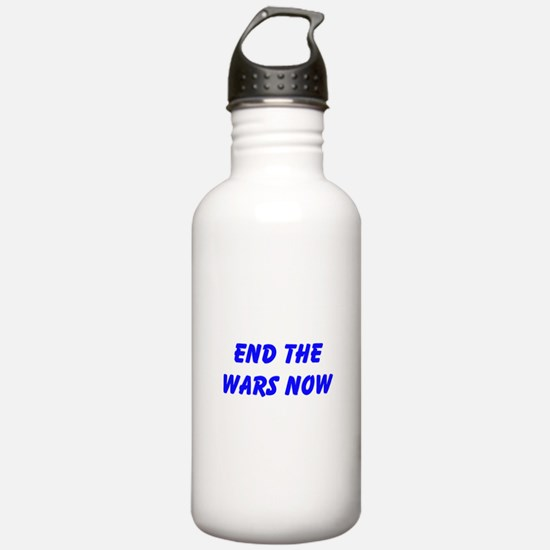 End the Wars Now Water Bottle