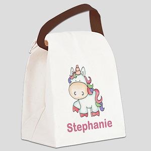 Stephanie's Sweet Unicorn Canvas Lunch Bag