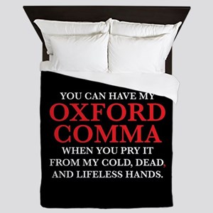 You Can Have My Oxford Comma Queen Duvet