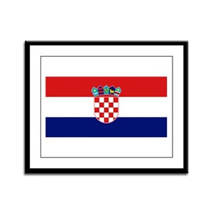 Flag of Croatia Framed Panel Print