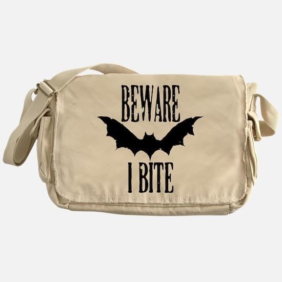 Beware I Bite Messenger Bag