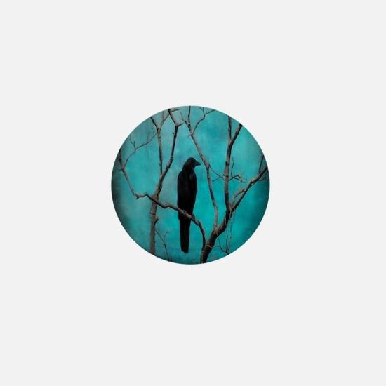 Crow In Night Lights Mini Button