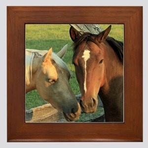 Horse pals Framed Tile
