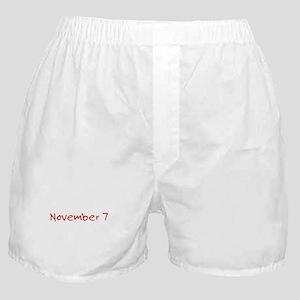 """""""November 7"""" printed on a Boxer Shorts"""