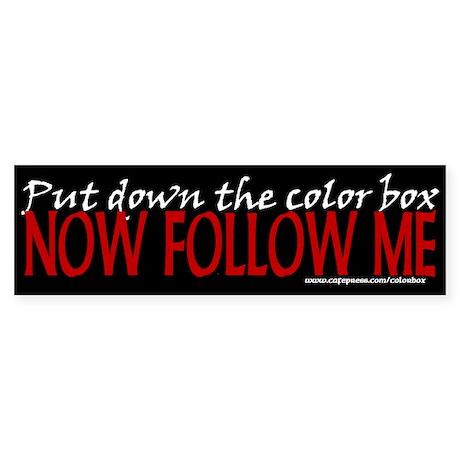 Color Box Bumper Sticker