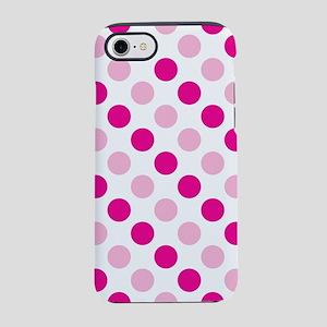 Pink polka dots iPhone 7 Tough Case