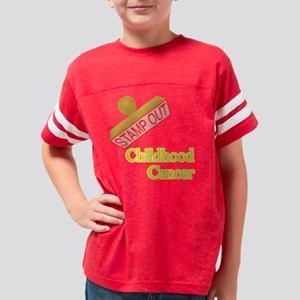 Childhood Cancer Youth Football Shirt