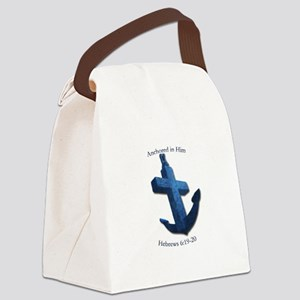 Anchored In Him Canvas Lunch Bag