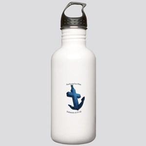Anchored In Him Water Bottle