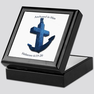 Anchored In Him Keepsake Box