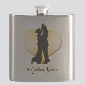 50th Wedding Anniversary Flask