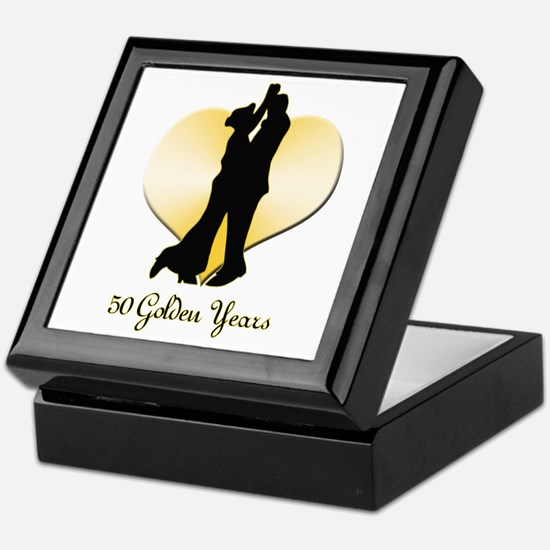 50th Wedding Anniversary Keepsake Box