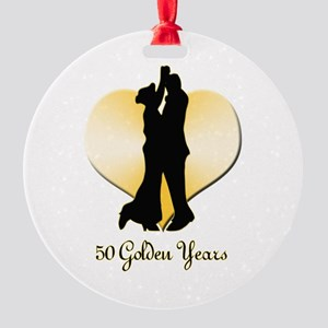 50th Wedding Anniversary Round Ornament