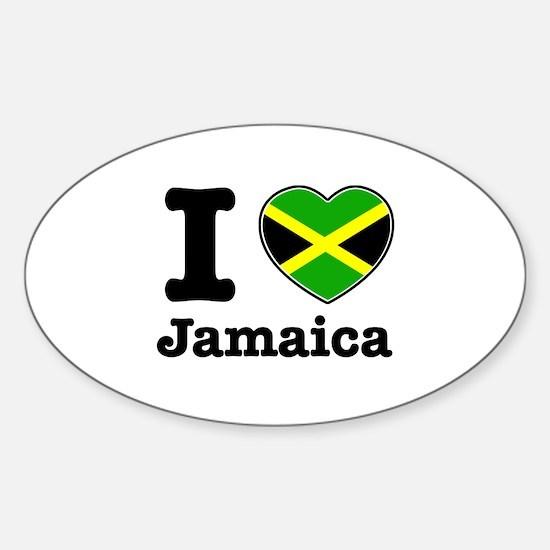 I love Jamaica Oval Decal