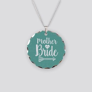 Mother Bride Necklace Circle Charm