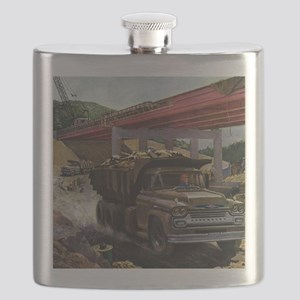 Vintage Business Construction Flask