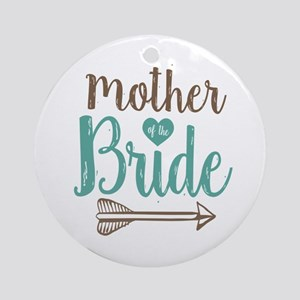 Mother Bride Round Ornament