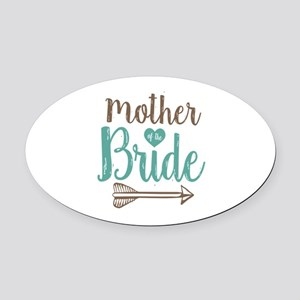 Mother Bride Oval Car Magnet