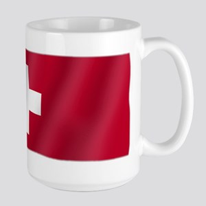 Pure Flag of Switzerland Large Mug