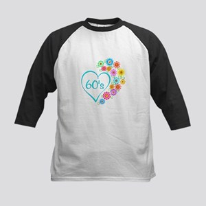60s Heart and Flowers Baseball Jersey