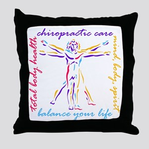 Chiro Balance Throw Pillow