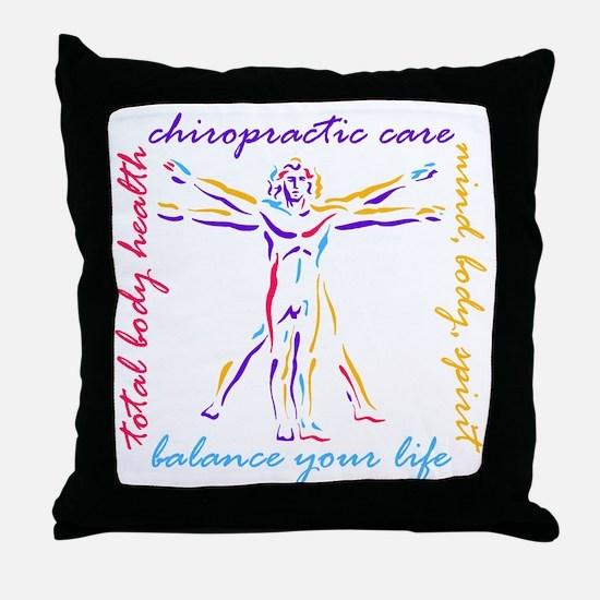 Chiro Balance Throw Pillow